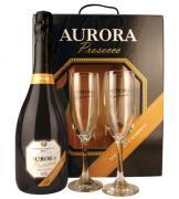 Prosecco Espumante Aurora com 2 Taças (Kits)
