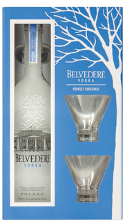 Vodka Belvedere Pure 700 ml + 2 Copos Martini (kit)