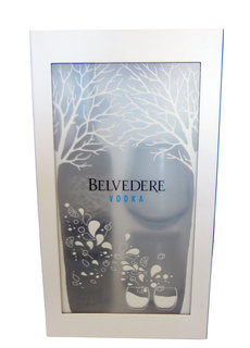 Vodka Belvedere Pure 700 ml + 2 Copos (kit)