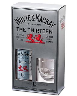 Whisky Whyte & Mackay 13 Anos 1 L  com 02 Copos (Kits)
