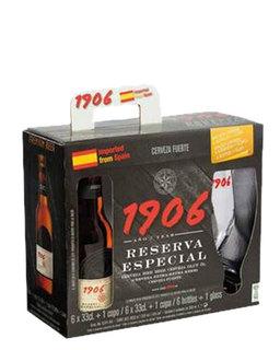 Cerveja 1906 Reserva Especial 330 ml com 06 unids. e 01 Copo (Kits)