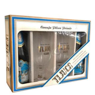 Cerveja Cerpa Tijuca com 02 Garrafas 350 ml + 02 Taças (Kits)