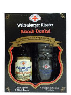 Cerveja Weltenburger Kloster Barock Dunkel 500 ml + 1 Copo (Kits)