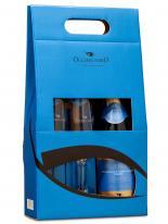 Prosecco Espumante Occhio Nero D.O.C Extra Dry 750 ml com 02 Taças (Kits)