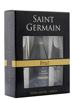 Espumante Saint Germain Brut 750 ml + 2 Taças (kit)