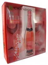 Kit Espumante Chandon Passion Demi Sec Com 2 Taças