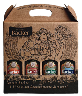 Cerveja Backer 04 Garrafas 355 ml (Kit)