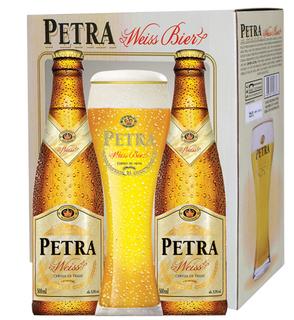 Cerveja Petra Weiss 02unids. com 01 Taça (Kits)