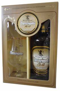 Cerveja Therezópolis Gold com 01 Taça de cristal (Kits)