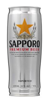 Cerveja Sapporo Premium Lata 650 ml
