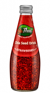 BeThai Chia Seed Drink Strawberry (Morango) 290ml