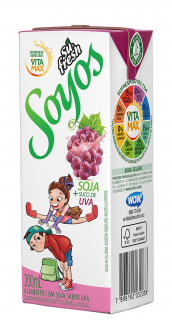 Bebida de Soja Sabor Uva Sufresh 200ml