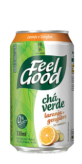 Chá Verde Feel Good Laranja e Gengibre Lata 330 ml