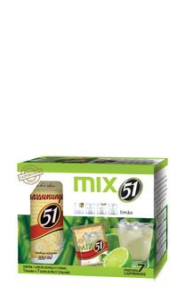 Cachaça Pirassununga 51 Caipirinha Mix Lata 350 ml com 01 Dosador e 07 Sachês (Kits)