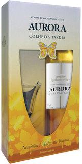 Vinho Aurora Colheita Tardia 500 ml com 01 Taça (Kits)
