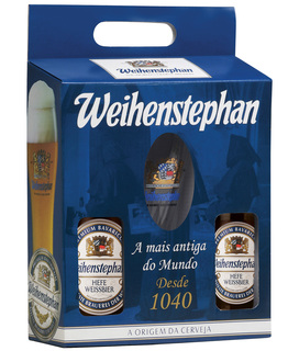 Cerveja Weihenstephan 500 ml 02unids. com 01 Copo (Kits)