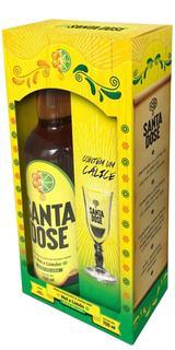 Aperitivo Santa Dose com Cachaça / Mel / Limão com 1 Taça (Kits)