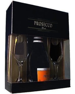 Prosecco Espumante Peterlongo 750 ml com 02 Taças (Kits)