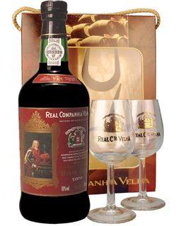 Vinho Dom José Tawny 750 ml com 2 Taças (Kits)