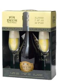 Cerveja Deus 750 ml com 02 Taças (Kits)