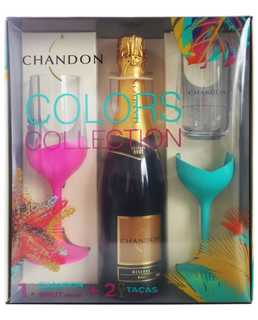 Espumante Chandon Brut 750 ml com 02 Taças (Kits)