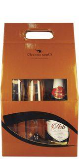 Espumante Asti Occhio Nero D.O.C.G. 750 ml com 02 Taças (Kits)