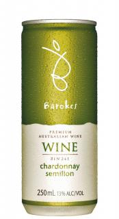 Vinho Barokes Branco Demi Sec Chardonnay Semillon 250ml