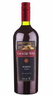 Vinho Country Wine Bordô Suave 1L