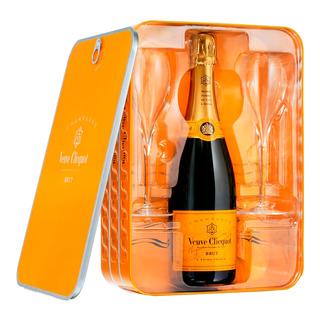 Champagne Veuve Ponsardine 750 ml com 2 taças (Kits)
