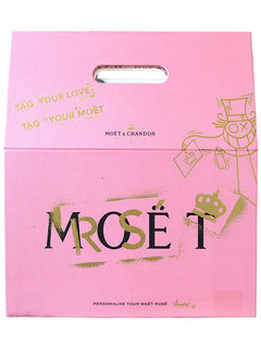 Champagne Moët Magnun Rose Tag Your Love 1,5 L (Kits)