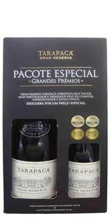 Vinho Gran Reserva Tarapacá Cabernet Sauvignon 750ml + Carmenère 375ml (Kits)