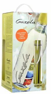 Vinho Gazela D.O.C. 750ml 2 unid. com 2 Taças (Kits)