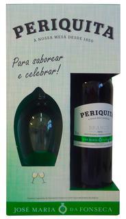Vinho Periquita Branco Português 750 ml com 1 Taça (Kits)