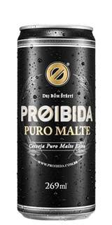 Cerveja Proibida Puro Malte Lata 269 ml