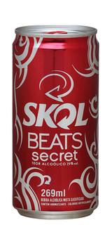Cerveja Skol Beats Secret Lata 269ml
