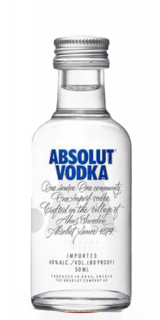 Miniatura De Vodka Absolut 50ml