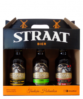 Kit Straat Com 3 Cervejas de 500ml